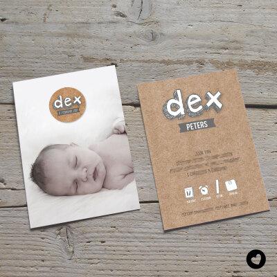 geboortekaartje-op-maat-dex