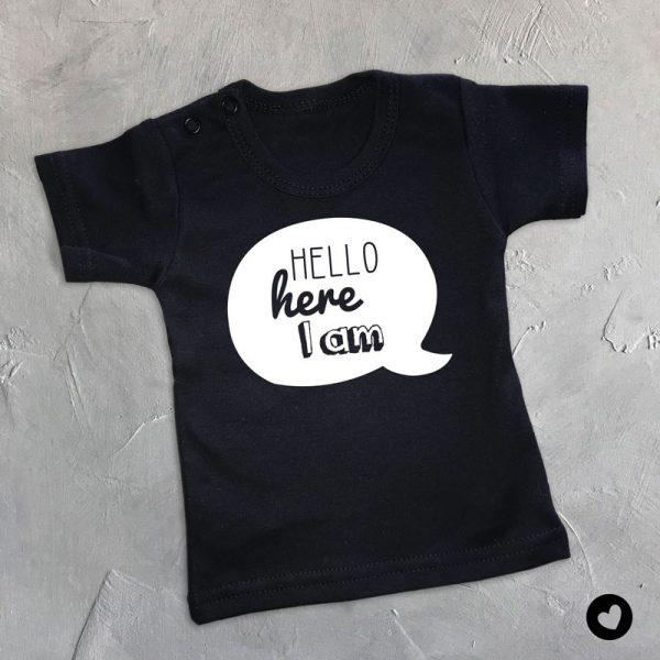 Babyshirt Hello here I am