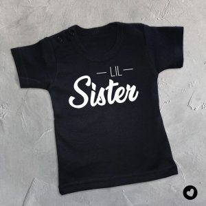 Babyshirt-Lil-Sister-zwart