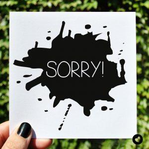 kaart-sorry