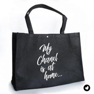 vilten-tas-zwart-chanel
