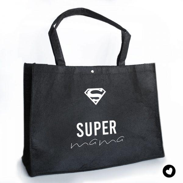 vilten-tas-zwart-super-mama